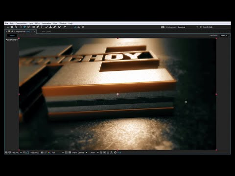 Exclusive After Effects Tutorial | 3D Gold Logo Reveal | Element 3D