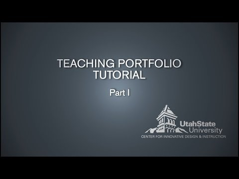 Teaching Portfolio Video Tutorial (for student teachers at USU - TEAL)