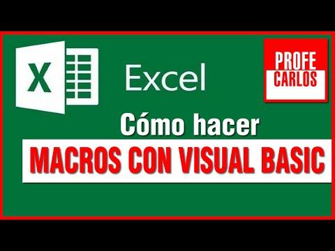 Macros en Excel 2010 con Visual Basic