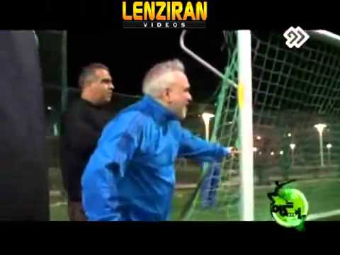 Esteghlal managing director Ali Fathollahzadeh demonstrate his skill in football