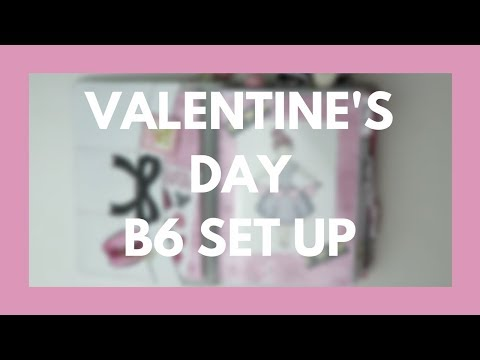 TRAVELER'S NOTEBOOK // V-Day Set Up in B6 Foxyfix ft. SPC!