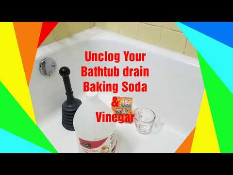 How to Unclog Bathtub drain in Minutes with Vinegar and Baking soda