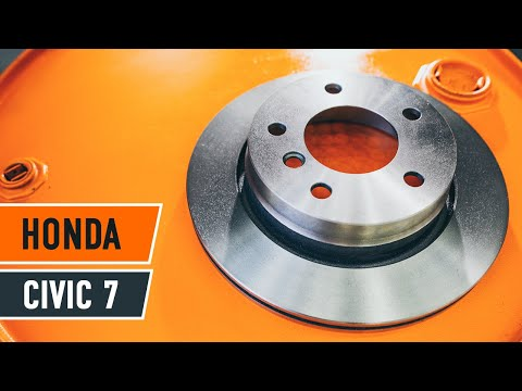 How to replace front brake discs and brake pads onHONDA CIVIC 7 TUTORIAL | AUTODOC