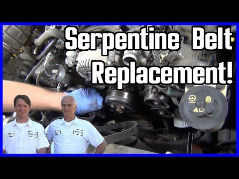 How to Replace Serpentine Belt Ford Explorer 2002-2005 4.6L V8
