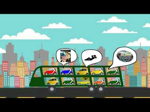 Smart Transportation Solutions to reduce pollution and traffic congestion HD