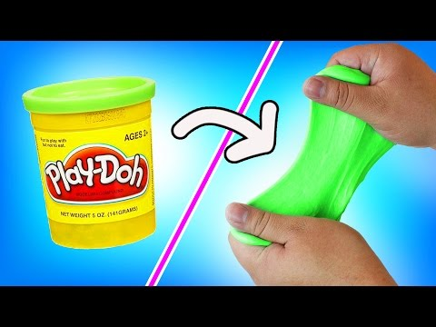 DIY | Play-Doh Slime - HOW TO MAKE SLIME OUT OF PLAY-DOH!!! + ASMR!