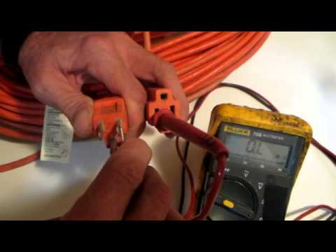 Using A Multimeter To Check An Extention Cord