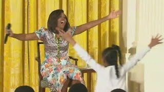 Little girl to Michelle Obama: You