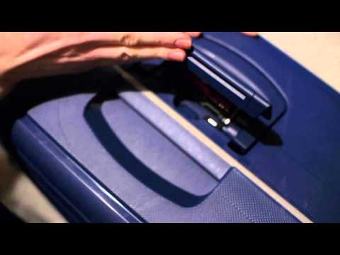 SAMSONITE S' CURE SPINNER , HOW TO SET UP THE 3 POINT TSA LOCK  27.1.2015
