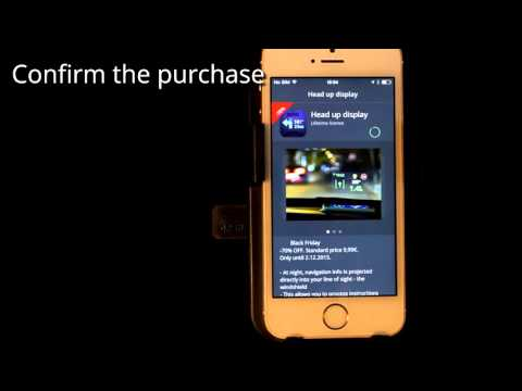 Sygic GPS Navigation for iOS - How to purchase HUD