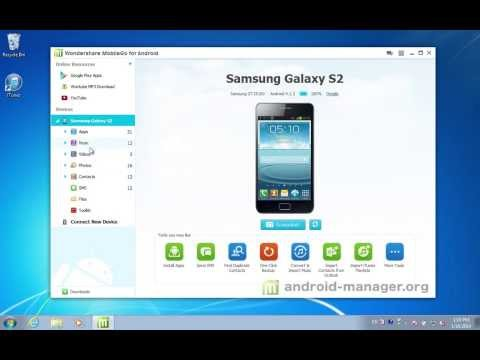 How to Manage Playlist from Samsung Galaxy S2 on Windows by MobileGo for Android?