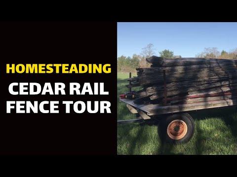 HOMESTEADING: Cedar Rail Fence Tour