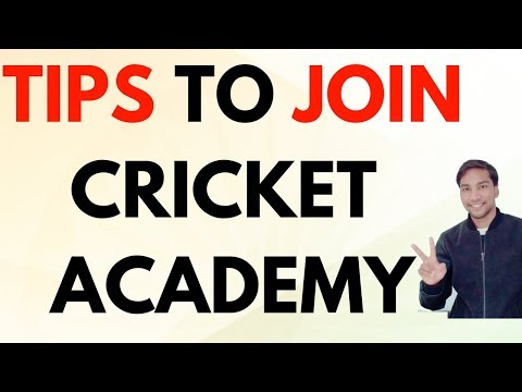 Tips to Join Cricket Academy? In Hindi