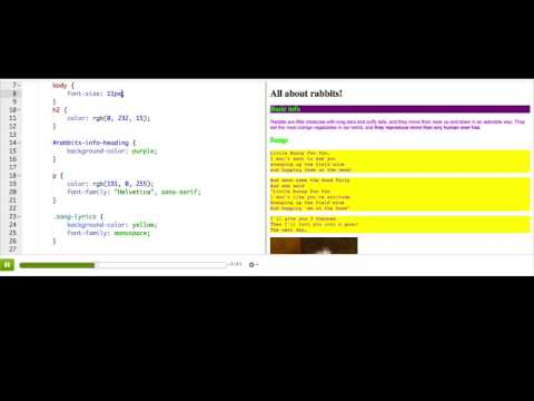 CSS font-size property | Intro to HTML/CSS: Making webpages | Computer Programming | Khan Academy