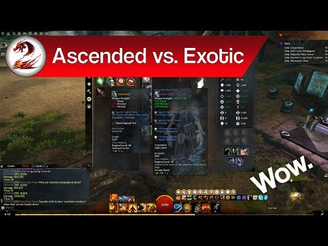 Guild Wars 2: Ascended vs Exotic Gear | What's the Difference & Is Ascended Gear Worth It?