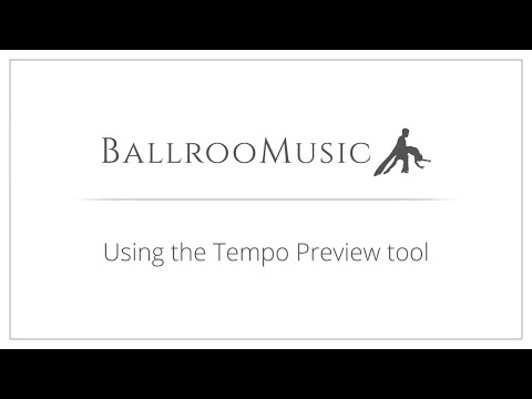 Using the Tempo Preview tool on BallrooMusic