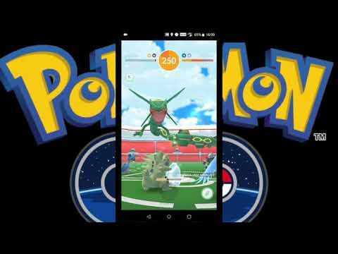 Pokemon Go our second Rayquaza raid!  Legendary Pokemon!