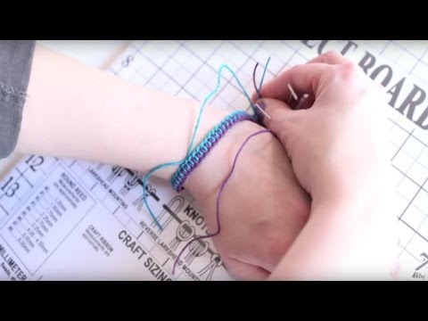 DIY Two Color Macrame Bracelets
