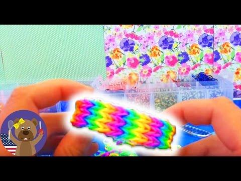 Triple Fishtail Rainbow Loom Bracelet Tutorial without Loom Board | englisch