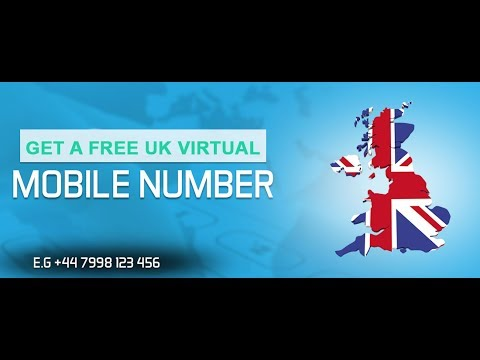 How to Get a FREE UK Virtual Mobile Number || UK FREE Phone Number || United Kingdom Mobile No