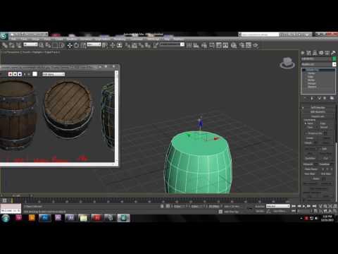3d modeling a barrel in 3dsmax