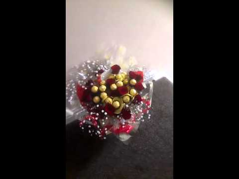 Ferrero rocher and roses bouquet