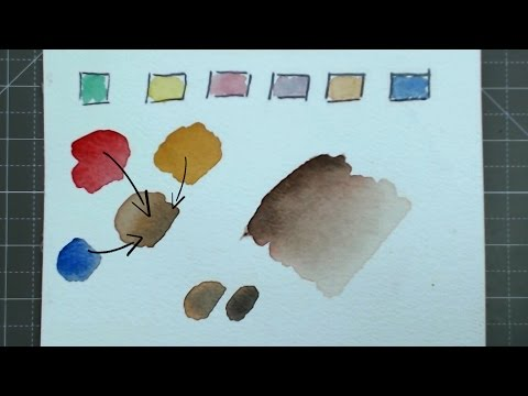 Creating skin colour & Skin tones EASY | watercolor - Alpha Art