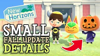 Animal Crossing New Horizons NEW FALL UPDATE HINTS REVEALED in Nintendo Announcement (Small Details)