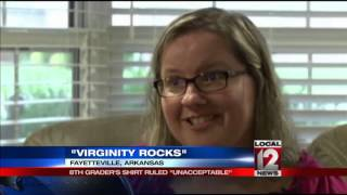 Teen asked to change out of 'Virginity Rocks