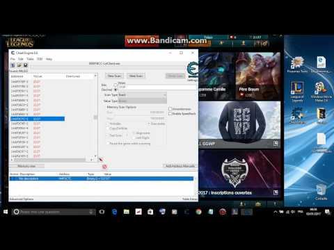 League of Legends How to get Free Ip with cheat engine