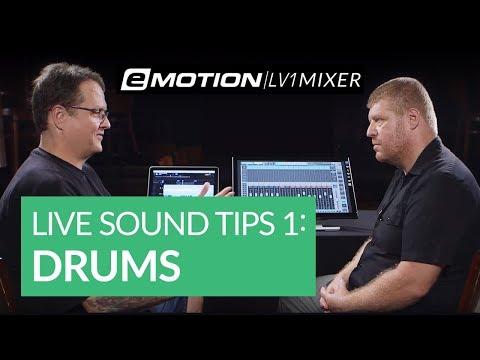 Live Sound Tips Part 1: Setup & Drums (ft. eMotion LV1)
