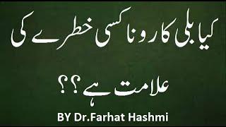 Kia Billi ka Rona Kisi Khatray ki Alamat Hai..??   ||  Dr.Farhat Hashmi