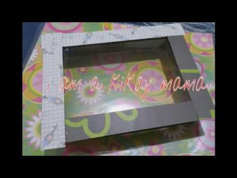 DIY:Shadow box frame (Recycling bdj boxes)