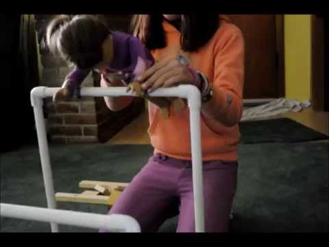 How To Make an AG doll uneven bars and beam