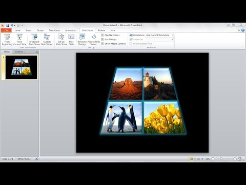 Powerpoint training |How to Crop Your Own Shape And Insert Pictures in powerpoint in Powerpoint