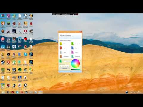 How to change the colour of the folder Windows 8 1080p