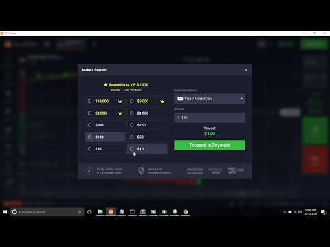 How to deposit money in IQ option using bitcoin when visa / master card not work or don't want to?