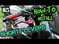 How To Install Shorty Levers | CBR600RR | Install