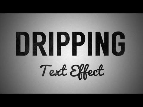 Dripping Text Effect Tutorial in Adobe Illustrator CS6