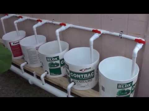 How To Make a Dutch Bucket Filmed by my wife #8  7/14/2015