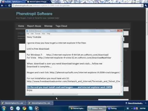 How to get Internet Explorer 9 Full Version for FREE (with links)