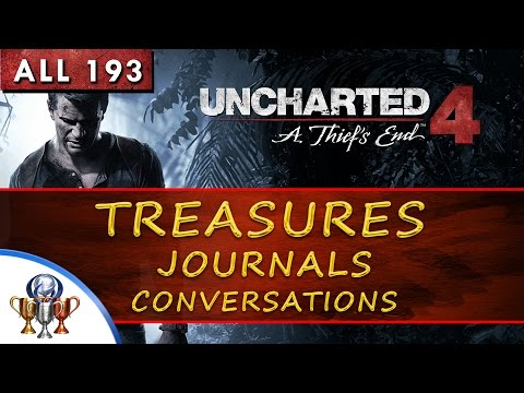 Uncharted 4 Collectibles Locations - 193 Treasures, Journal Entries, Notes & Optional Conversations
