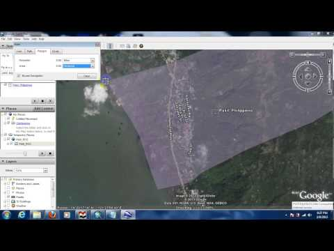 measuring area using google earth