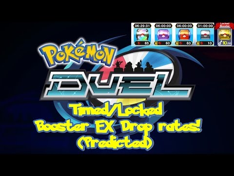 Pokemon Duel - Drop rates of Timed/Locked Boosters for EX Figures (Predicted)