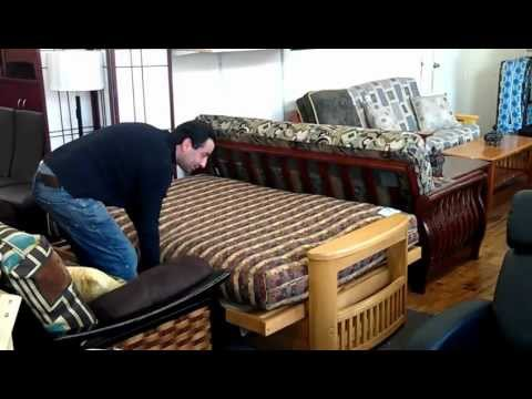How to open and close a regular futon frame