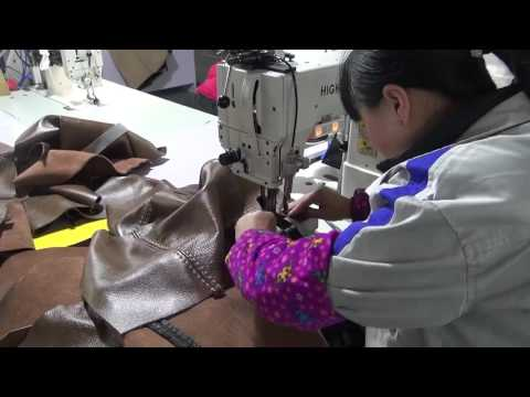 Twin needle post bed sewing machine for thick thread decorative stitching leather sofas   YouTube