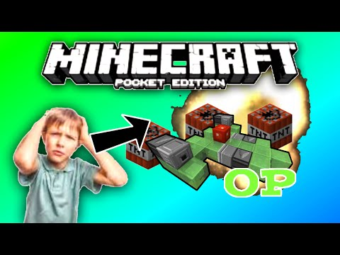 Minecraft PE - How To Build A Working Jet (Can Shoot TNT , 0.15.x)
