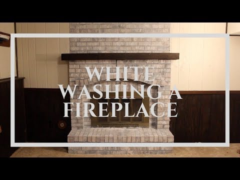 White Washing A Fireplace | My Basement Remodel