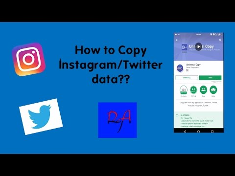 How to copy Instagram/Twitter data???