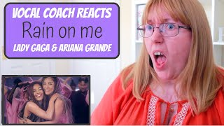 Vocal Coach Reacts to Lady Gaga & Ariana Grande 'Rain on me'